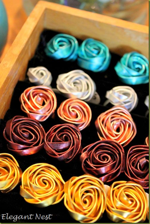 Jewelry wire rose rings, love these! #wire #rings
