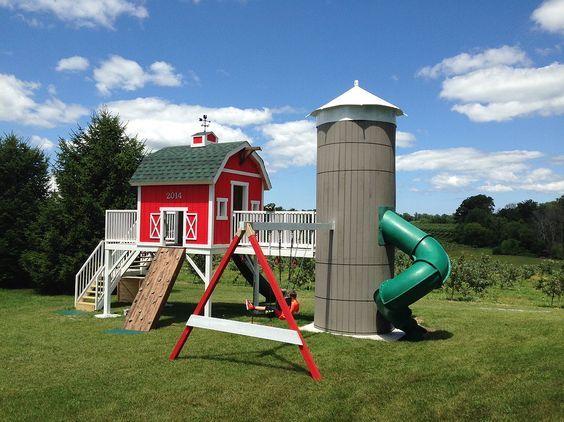barn themed swing set - Google Search: