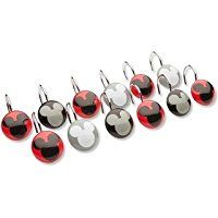 Disney Mickey Mouse Chevron Shower Curtain Hooks, Set of 12