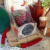 """Для дома и интерьера ручной работы. Ярмарка Мастеров - ручная работа Короб для специй """"С Перчинкой"""". Handmade."""