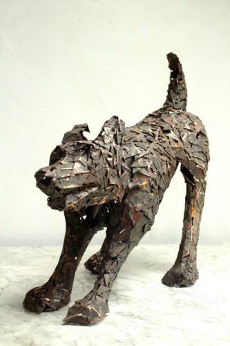 Riesjart Bus - Blaffende hond  - B x L x D in cm: 58 x 35 x 25