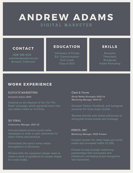 70 best Resume images on Pinterest Infographic resume, Resume - uga career center resume