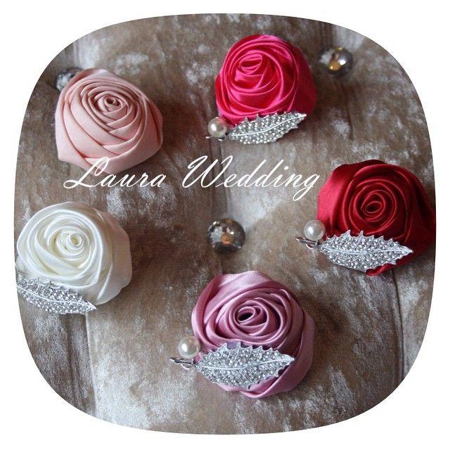 Розочки для подружек невесты  #laurawedding #букетневесты #букет #букетизлент #брошьбукет #винтаж #нежность #свадебныйбукет