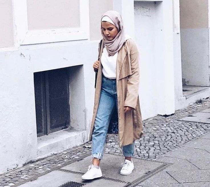 17 Best Images About Hijab Outfits On Pinterest White Sneakers Gray And Black Ankle Boots