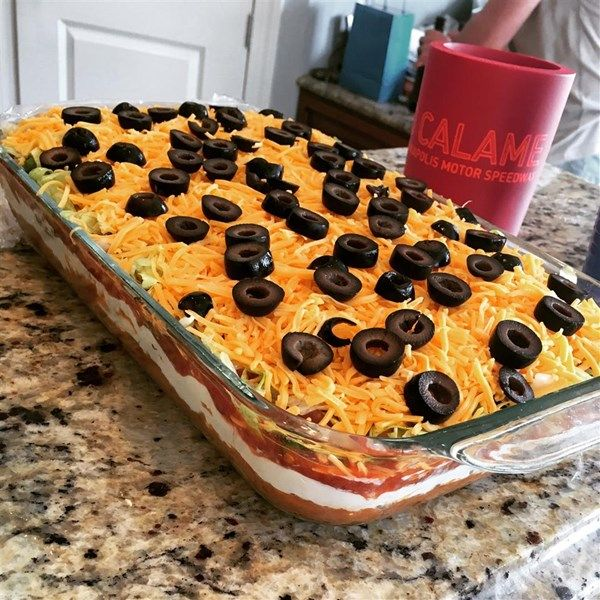 "Seven Layer Taco Dip | ""This recipe is very good as is, but is also easy to alter to personal taste."""