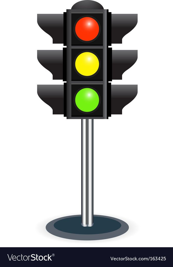 Traffic Lights Vector Image On Vectorstock Traffic Light Traffic Signal Drawing For Kids