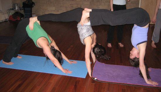 Partner Yoga Pose: Triple Down Dog