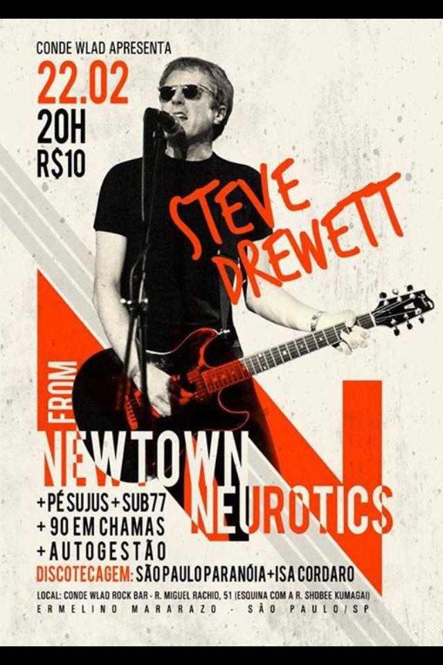 Steve Drewett from Newtown Neurotics