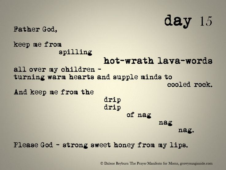 day 15 of The Prayer Manifesto for Moms