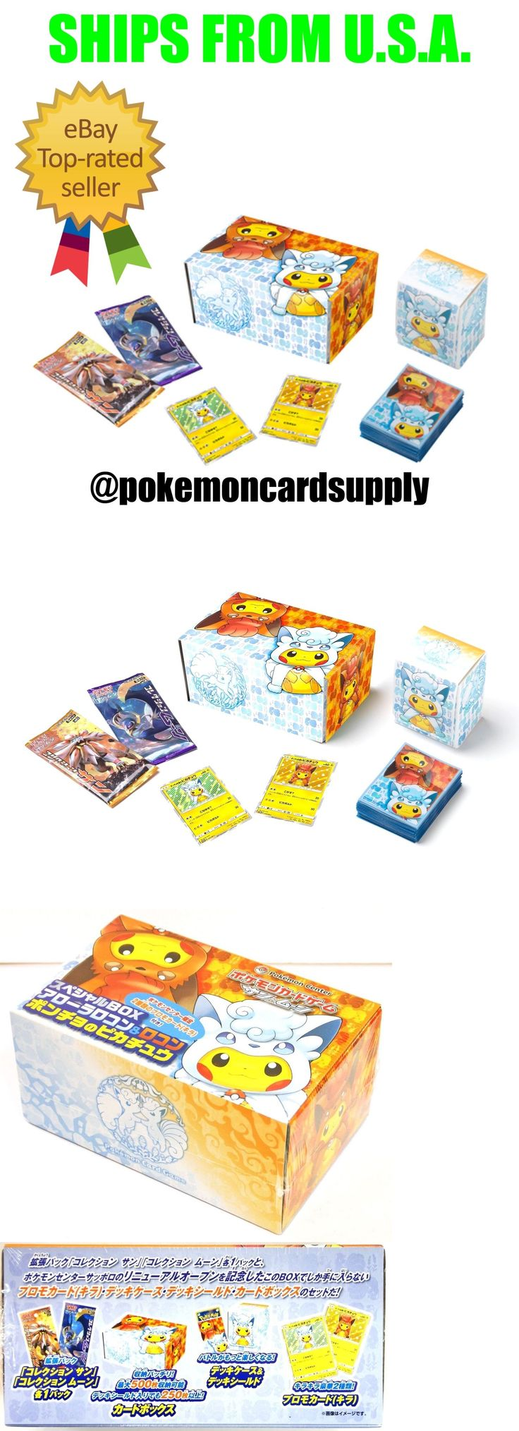 Pok mon Sealed Booster Packs 4301: Pokemon Card Game Sun And Moon Alola Vulpix Pikachu Poncho Cosplay Sealed Box Set! -> BUY IT NOW ONLY: $39.95 on eBay!