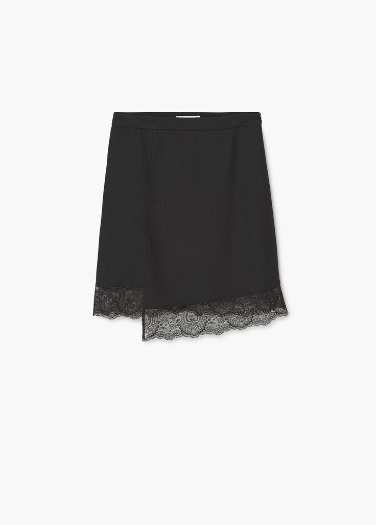 Кружевная юбка | MANGO МАНГО
