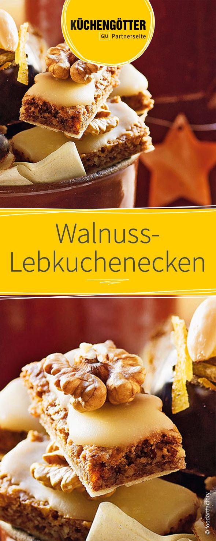 Plätzchen-Rezept für Walnuss-Lebkuchenecken