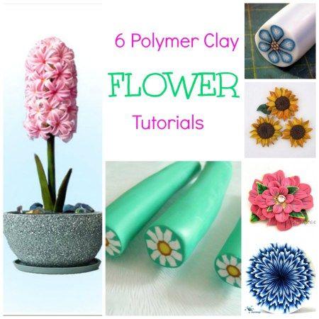 6 Polymer Clay Flower Tutorials