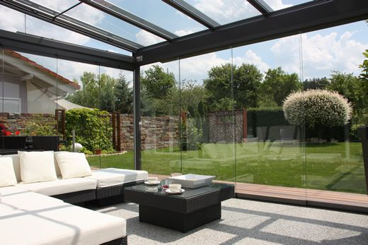 Sliding Glass Wall on Veranda