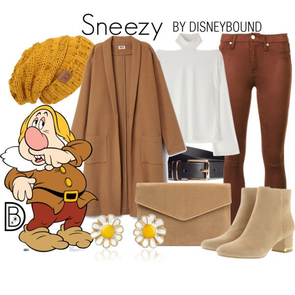 A fashion look from January 2017 by leslieakay featuring 7 For All Mankind, MICHAEL Michael Kors, AZ Collection, H&M, disney, disneybound and disneycharacter