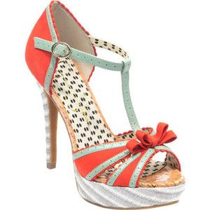 Women's Jessica Simpson Britt - Tomato Red/Cool Mint Stacked Heels