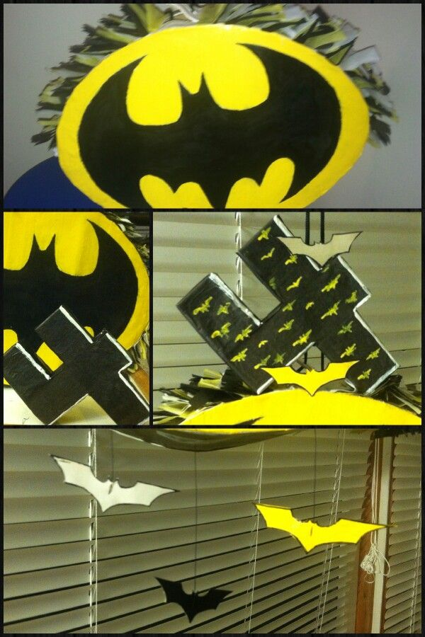 Diy Batman Pinata Crafts Batman Pinata Batman