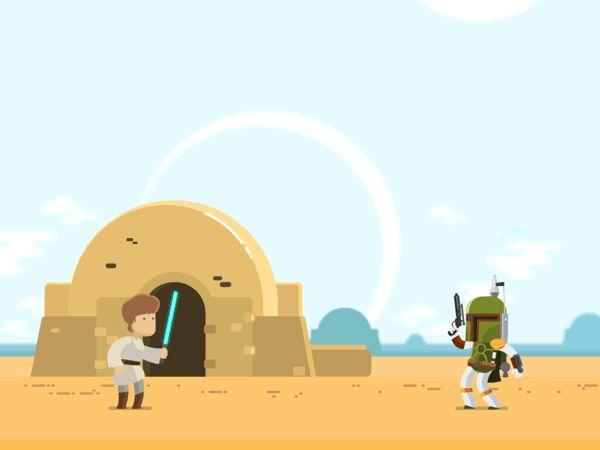 Star Wars: Luke vs. Boba Fett - Created by Chris Phillips