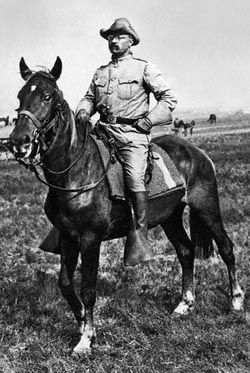 Teddy Roosevelt's horse Little Texas led the charge up San Juan Hill during the 1898 Spanish American War