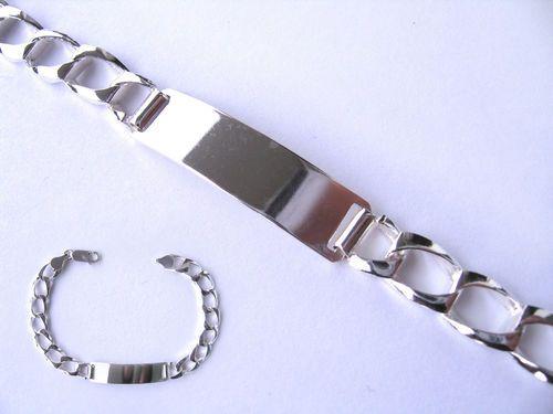 Pulsera Esclava Caballero Lisa fabricada integramente de Plata de Ley 925 ml