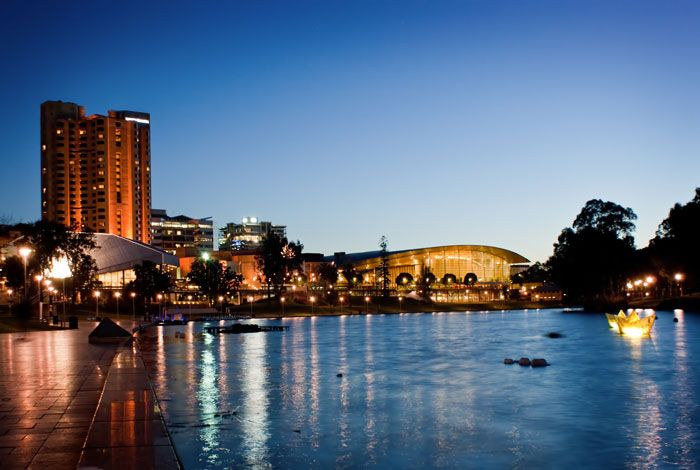 The River Torrens in Adelaide  http://www.genders.com.au/