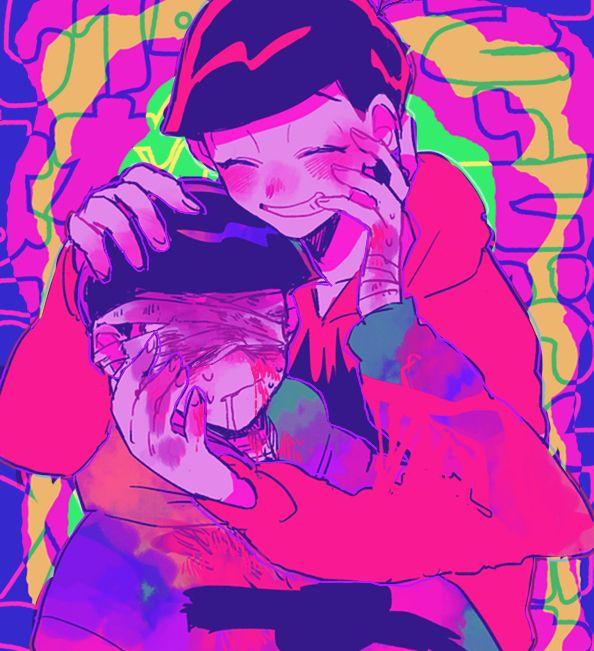 Osomatsu-san- Osomatsu and Karamatsu #Anime「♡」#Guro #Dark