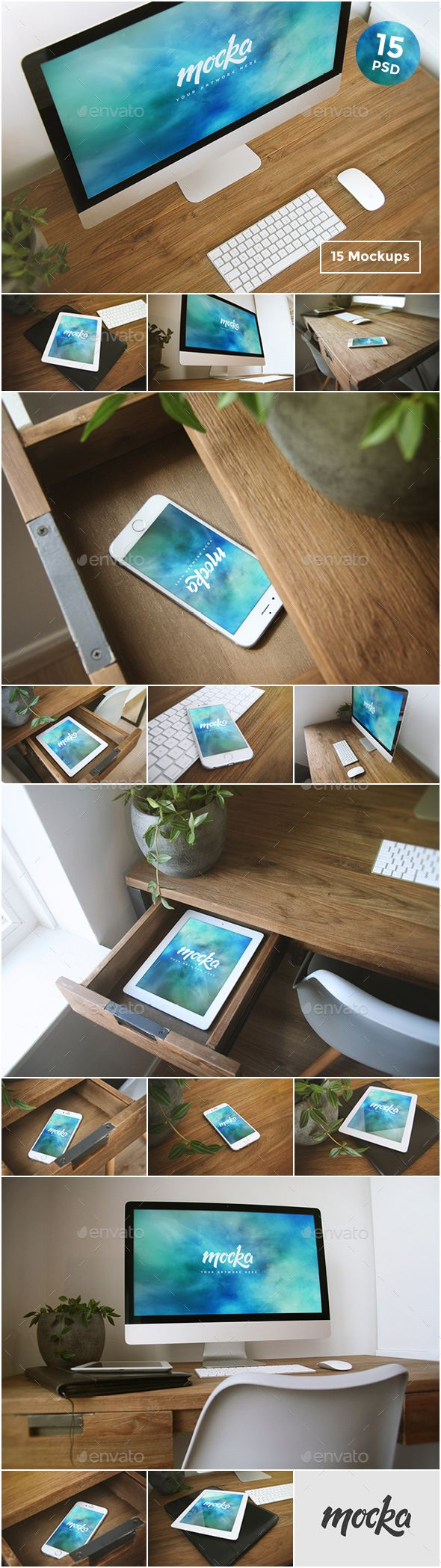 15 Desktop, Tablet & Phone Mockups. Download here: http://graphicriver.net/item/15-desktop-tablet-phone-mockups/15617030?ref=ksioks