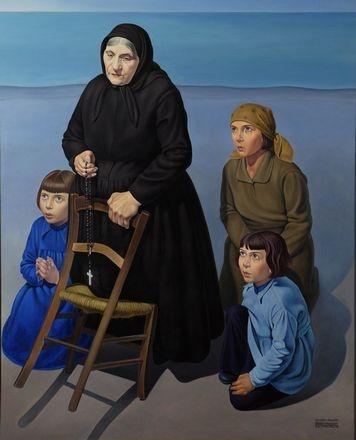 Cagnaccio di San Pietro, Famiglia sulla spiaggia