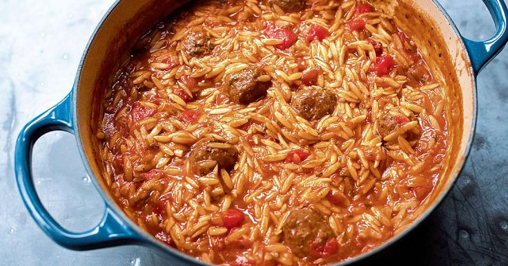 Nigella Lawson's delicious one-pot recipe for Orzo with Meatballs is a comforting and warming pasta dish perfect for wintry weekend cooking.