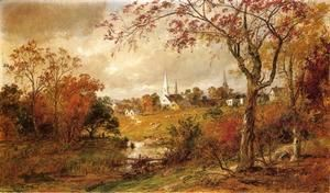 Autumn Landscape - Saugerties, New York  Jasper Francis Cropsey