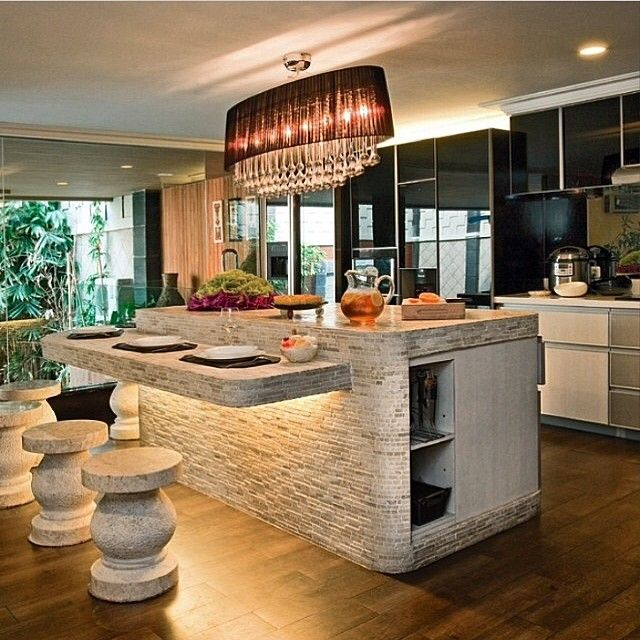 Best 25 Stone Kitchen Island Ideas On Pinterest