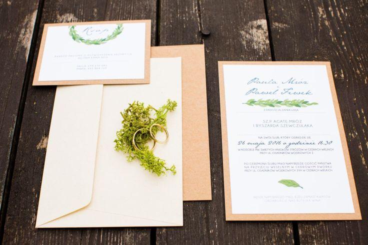 Eko zaproszenia ślubne od Robimy Śluby