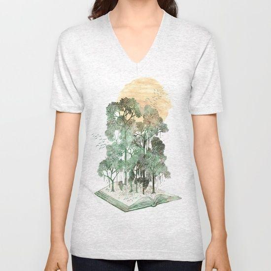 https://society6.com/product/jungle-book_vneck-tshirt?curator=bestreeartdesigns.  $24
