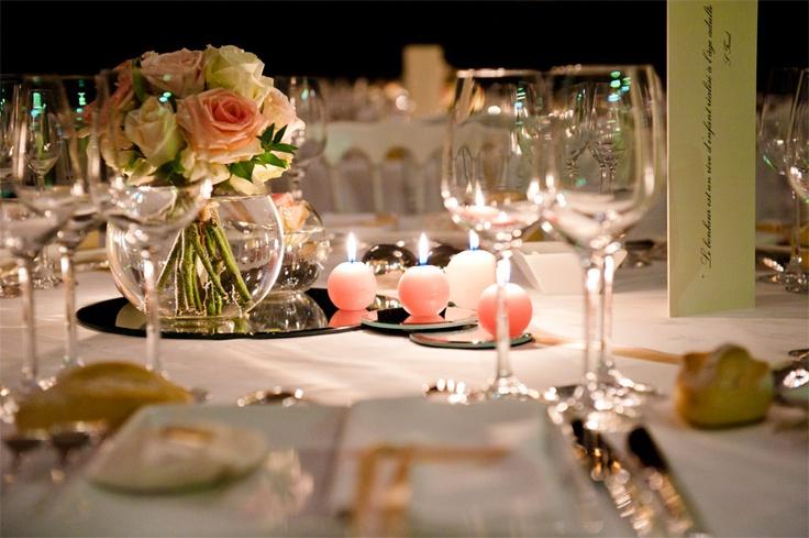 Centre de table miroir #weddingdecoration #centredetable #mirror&candle