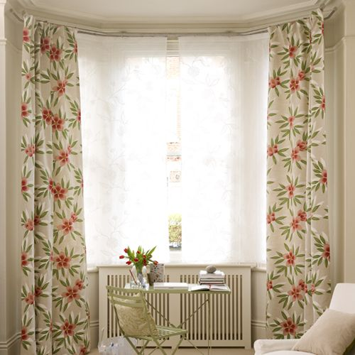 Need to dress your window for privacy and prettiness? A double pole lets you do both