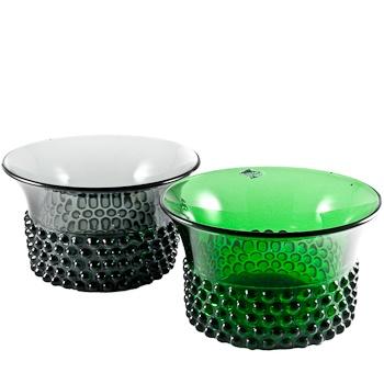 Krookus bowls by Saara Hopea, Nuutajärven lasi