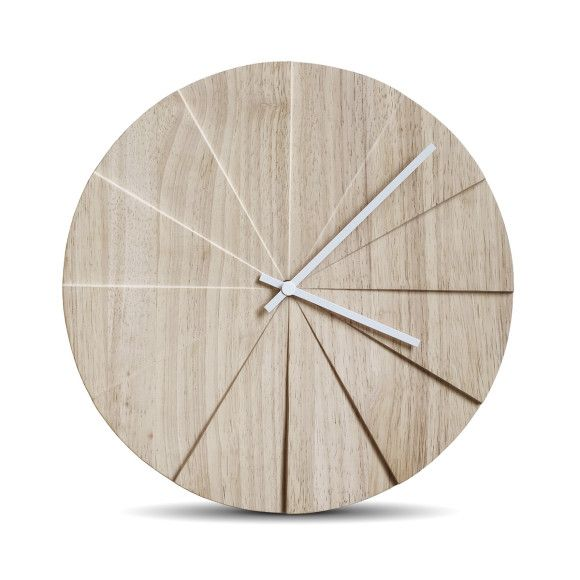 Leff Amsterdam scope natural wall clock | hardtofind.