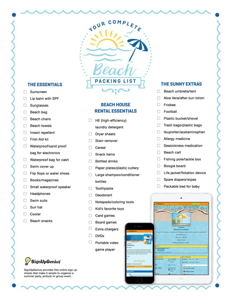 Best  Beach Packing Checklist Ideas On   Beach