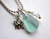 lotus: Lotus Necklace, Lotus Ideas, Lotus Flowers, Sea Glass
