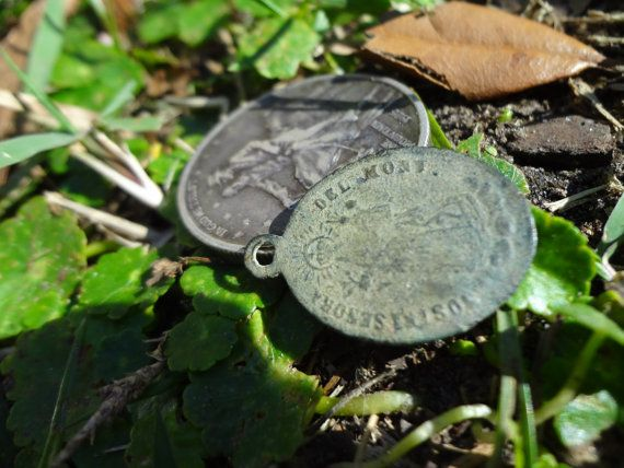 Civil War Soldier's Religious Medal - Dug From Caroline County, VA - Unique Pendant, Authentic 1800s Victorian Era Antique For Sale by ReveledRelics, $80.00