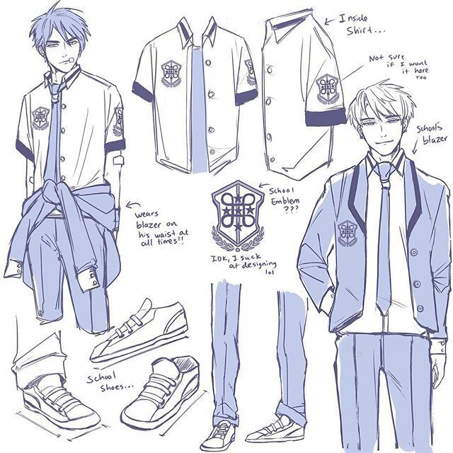 Sketch Notes Part 2 More Focus On Their School Uniforms P Struggles To Design Things Everyday Me In 2020 School Uniform Anime School Uniform Manga School