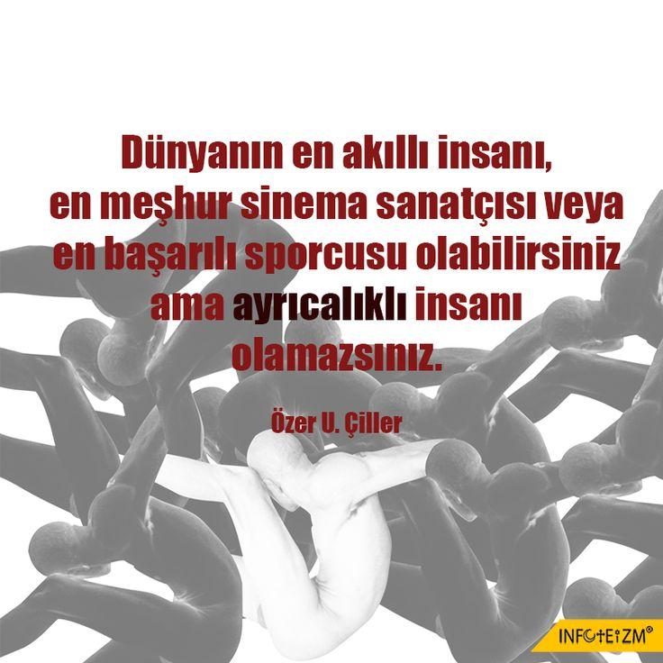 Ayrıcalıklı insan olamazsınız. #fark #üstünlük #tanrı #hak #infoteizm #eşitlik #dünya #yaşam #insan