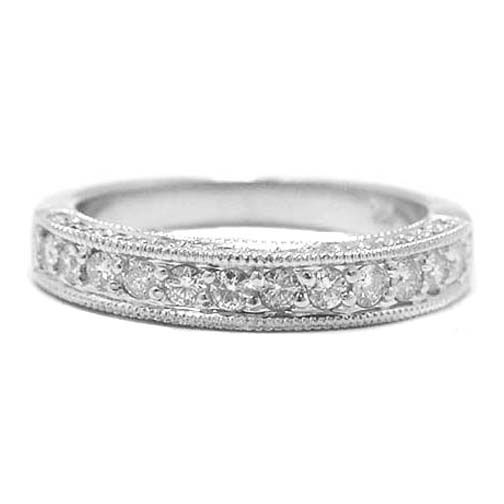 Round Diamond Antique Pave Wedding Band 0 50 Tcw Matches Perfectly With My Engagement Ring