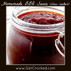 Home Made Slow Cooker BBQ Sauce - easy and TASTY!!