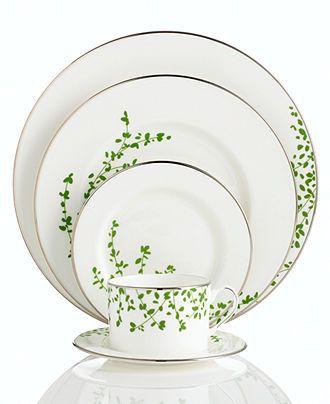 "kate spade new york ""Gardner Street Green"" 5-Piece Place Setting - Fine China - Dining & Entertaining - Macy's"