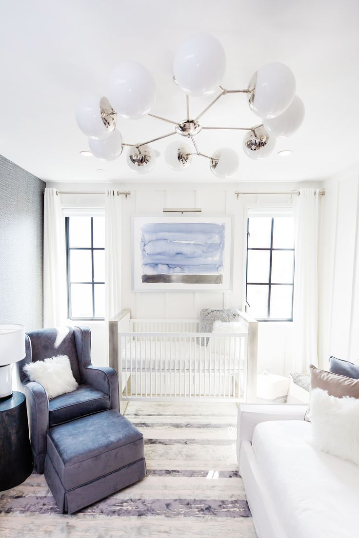 Sophisticated Modern Nautical Nursery: Who Says A Blue Nursery Can't Be Sophisticated