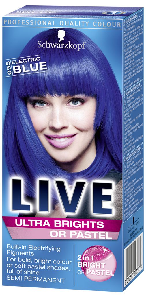 LIVE Ultra Brights or Pastel Electric Blue, blue hair dye ...