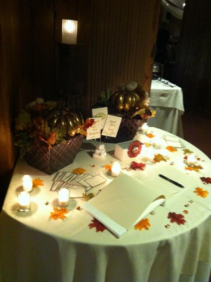 Autumn Wedding Guest Book Table
