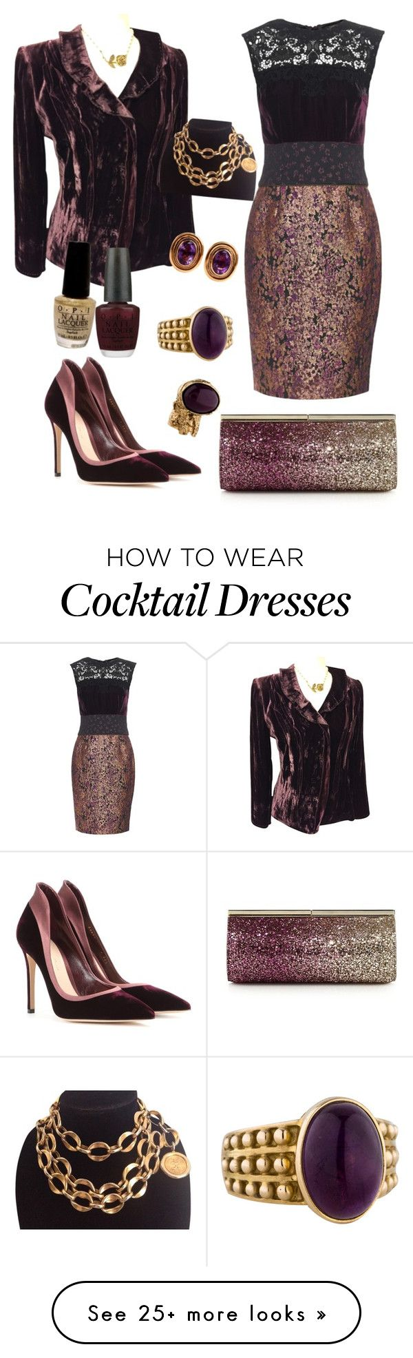 """Velvet Eggplant"" by angelicus143 on Polyvore featuring Gianvito Rossi, Sophie Theallet, Elie Tahari, Yves Saint Laurent, Jimmy Choo, OPI, Chanel, women's clothing, women's fashion and women"