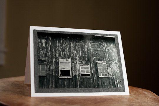 Greeting Card Photography Blank 5 x 7 Barn Windows $5.00